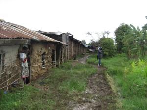 Houses visited last year in Langas slum, outside of Eldoret, Kenya